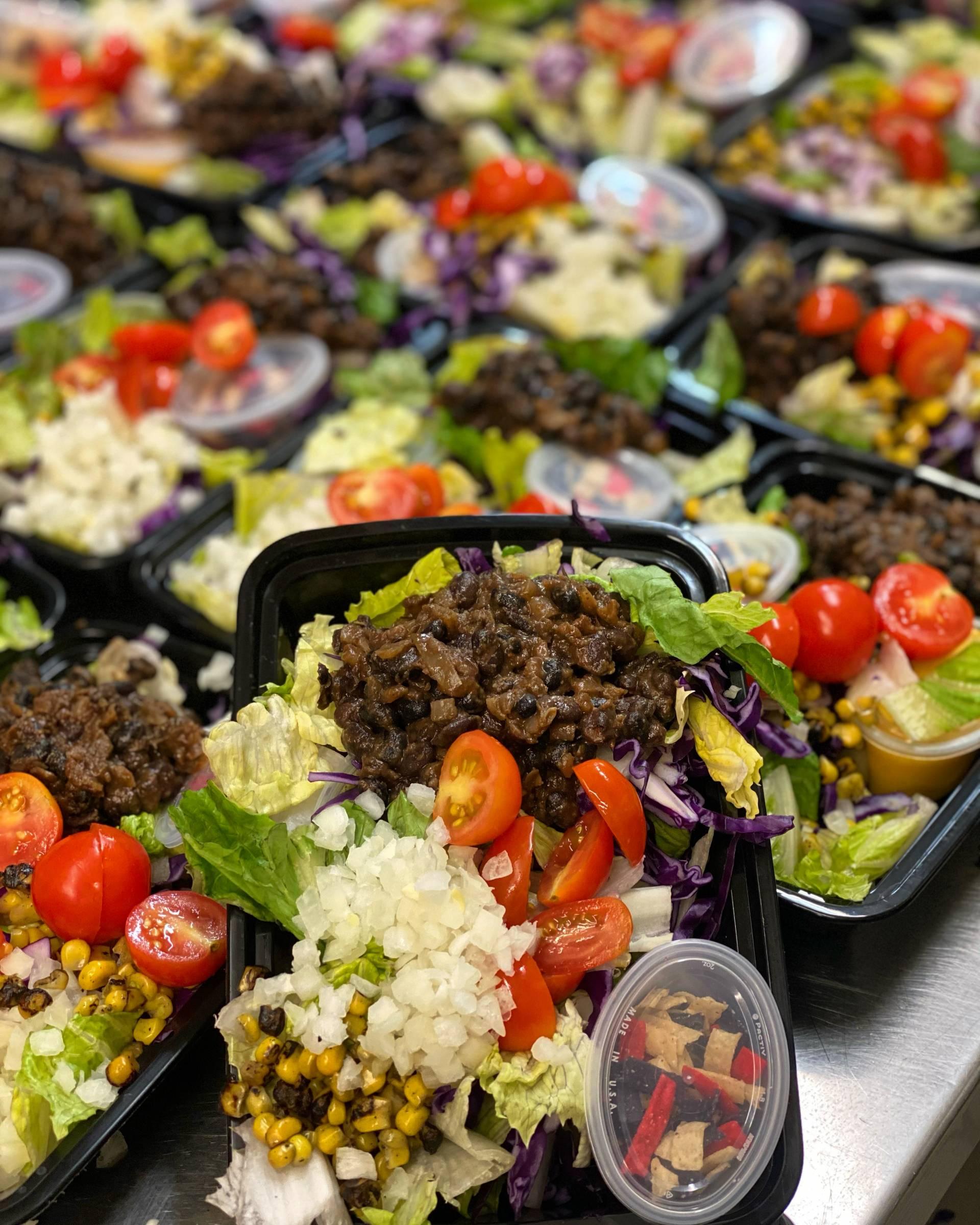Black Bean Taco Salad with Chipotle Mango Dressing