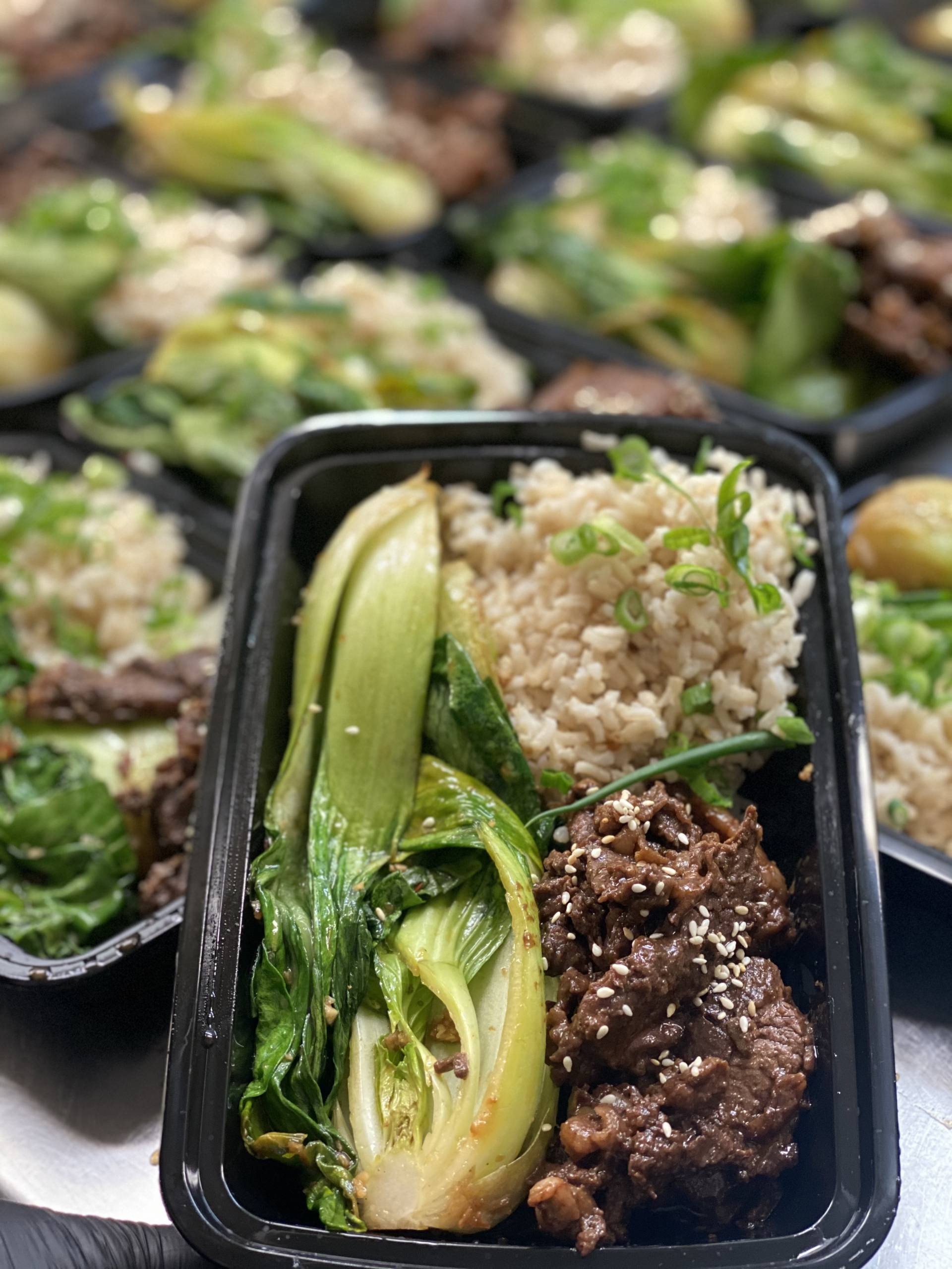 Korean BBQ Beef with Bok Choy and Brown Rice