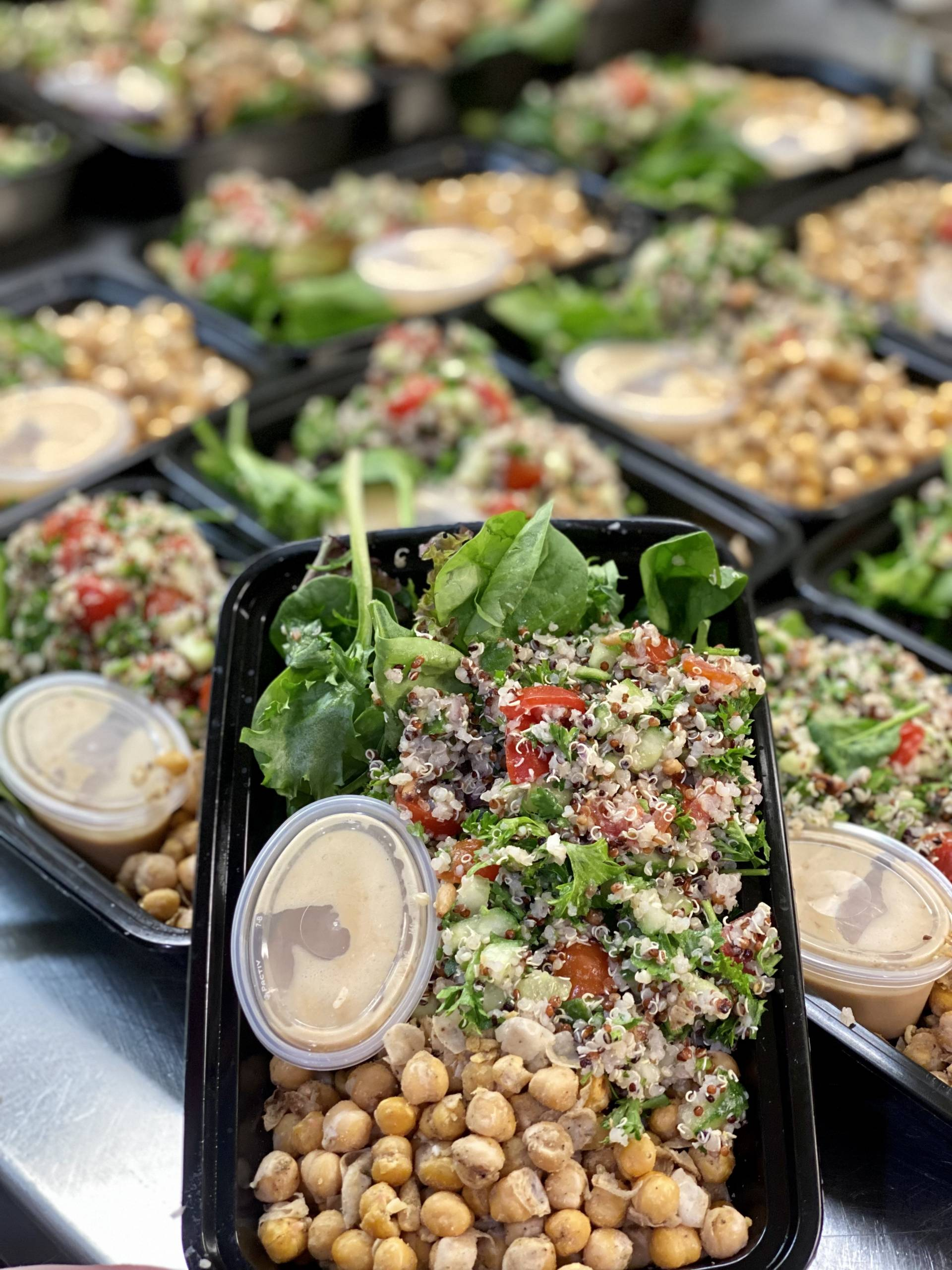 Quinoa Tabbouleh Salad with Za'atar Chickpeas and Green Goddess Dressing